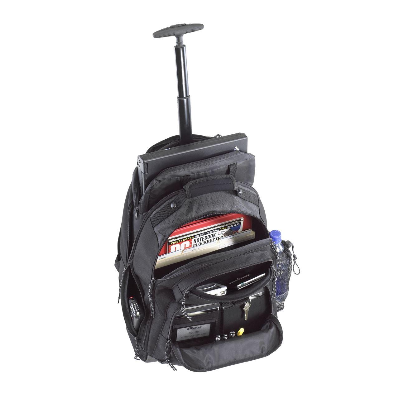 15.4u201d Rolling Laptop Backpack - TSB700 - Black Rollers Targus